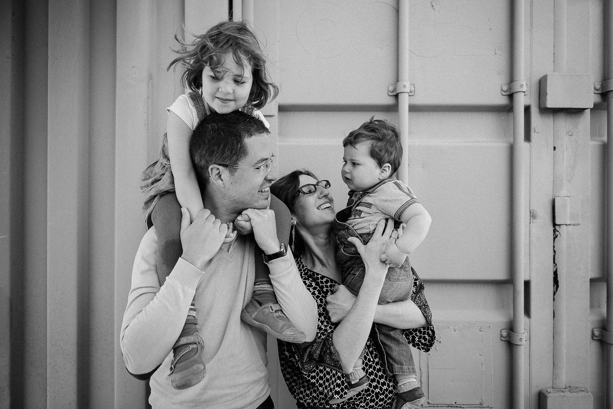 Séance photo en famille aux puces