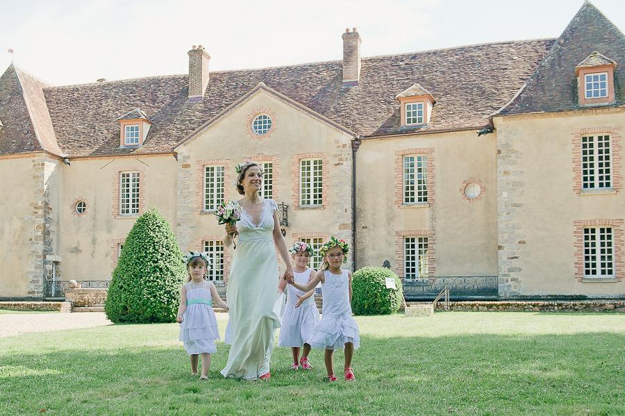 Mariage inspiration boheme-champetre-chic-Paris 14eme et Chateau de Bois le Roi Yonne-53