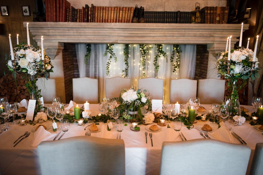 table des mariés domaine des saints pères